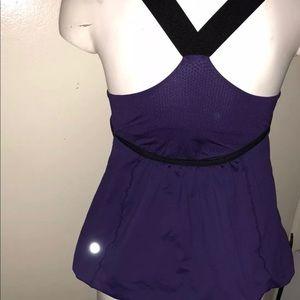 Women's Lululemon purple top size 4 Racerback